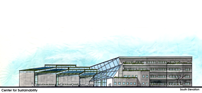 Final building elevation.