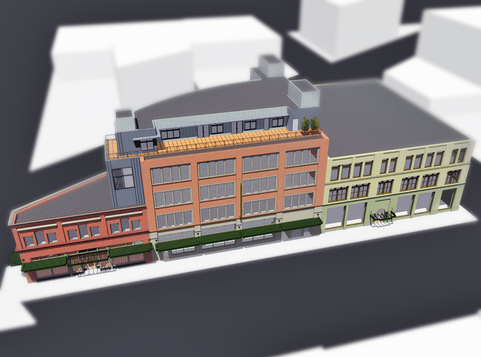 3D rendering used for a historic tax credit application.